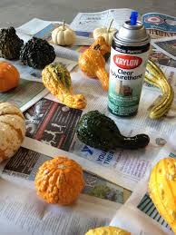 cobweb spray for halloween spray pumpkins and gourds with clear polyurethane to preserve them