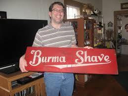 Burma Shave Meme - burma shave allison s book bag
