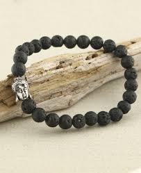 bead bracelet mens images Men 39 s lava bead buddha bracelet jpg