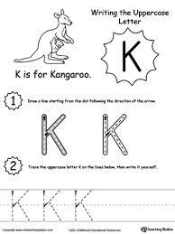 writing lowercase letter k myteachingstation com