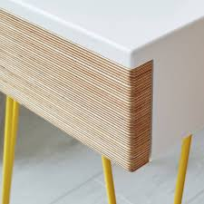 Plywood Bedside Table by Roswell Bedside Table With Steel Hairpin Legs By Lycan Design