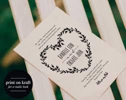 free rustic wedding invitation templates wedding invitation