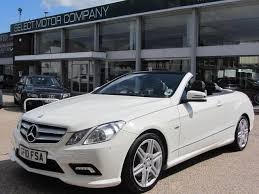 white mercedes convertible used mercedes 2010 diesel class e350 cdi blueefficiency