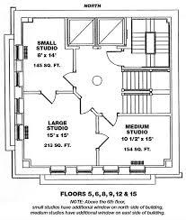 Small Studio Floor Plans by Floor Explorer Bromo Seltzer Arts Tower