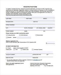 32 sample free registration forms