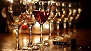 drink table bar bottles