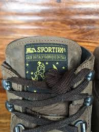 men u0027s la sportiva hiking boots brown leather eu 44 5 us 11 made in