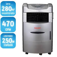 Honeywell Portable Comfort Control Honeywell 470 Cfm 4 Speed Indoor Portable Evaporative Cooler With