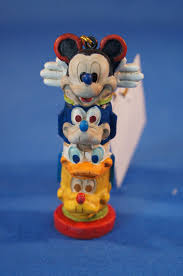 disney cruise line alaska totem ornament figurine mickey goofy