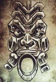 totem tattoo sketch handmade design over vintage paper stock