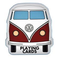 volkswagen van cartoon volkswagen camper shaped playing cards pink cat shop