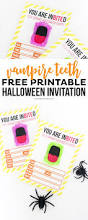 free printable vampire halloween invitation printable crush
