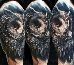 40 realistic owl tattoo designs for men nocturnal bird ideas