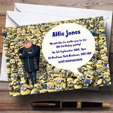 Minions Invitation Card Despicable Me Minions Personalised Children U0027s Party Invitations