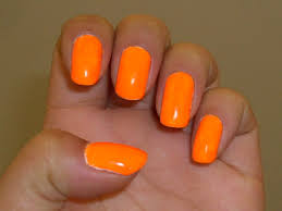 polish all day all night essie bright tights a neon orange