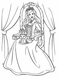coloring pages princess barbie images print free coloring