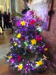 blue and pink christmas tree christmas lights decoration