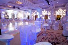 Winter Party Decor - wellpleased winter wedding ice palace snow chandeliers trees