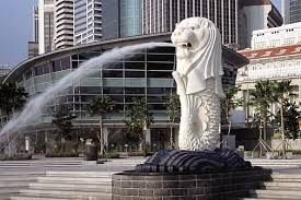 singapore lion merlion the lion by the sea singapore tourism board