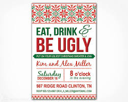 free printable ugly christmas sweater party invitations u2013 happy
