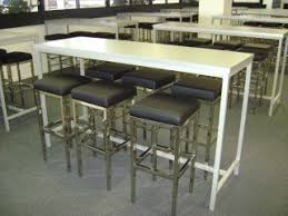 Aluminium Bar Table Aluminium Frame Highbar Base022 Bench Bar Creative Furniture