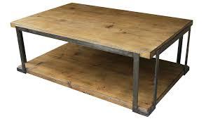 wood metal end table rustic wood metal coffee table industrial reclaimed iron cocktail