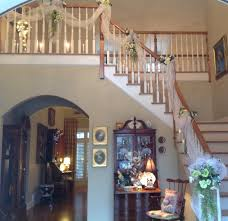 tulle and lights for stairs over doors decorating with