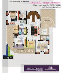 5 bedroom luxurious bungalow floor plan and 3d view kerala home