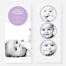 circle themed birth announcements paper culture