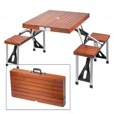 portable folding picnic table leisure season pft12 portable folding picnic table lowe s canada