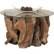 driftwood coffee table base wayfair