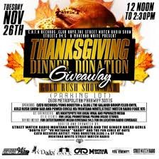 11 26 12pm 2 30pm turkey give away thanksgiving dinner donation