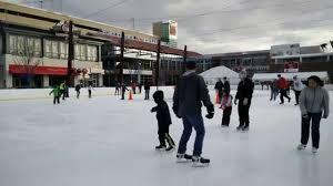 rosemont outdoor ice rink 12 6 youtube