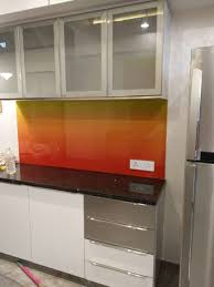 Kitchen Cabinet Shutters Profile Shutters In Kitchen Backpainted Glass Ahmedabad