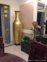 2017 chinese traditional handicrafts carved ceramic floor big vase