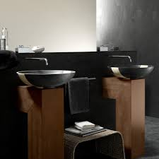 Designer Bathroom Sinks by Contemporary Black Marble Bathroom Sink