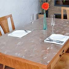 dining table cover pad glass table cloth round table pvc transparent table cloth pad