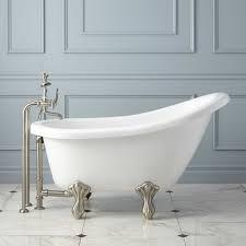 acrylic slipper clawfoot tub bathroom