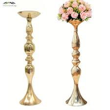 gold metal candle holders 50cm 20 stand flowers vase candlestick