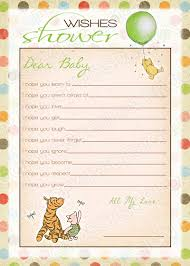 instant download classic winnie pooh wishes baby shower game