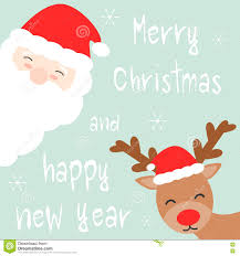 merry and happy new year card with