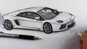 how to draw a lamborghini aventador car drawing step by step easy