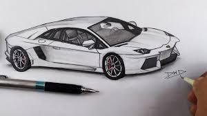 lamborghini car drawing how to draw a lamborghini aventador car drawing by easy