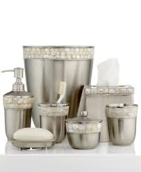 Silver Bathroom Accessories Sets by Paradigm Bath Accessories Opal Satin Copper Toothbrush Holder