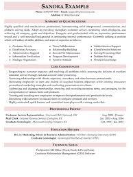 customer service resumes resume qualification exles customer service krida info