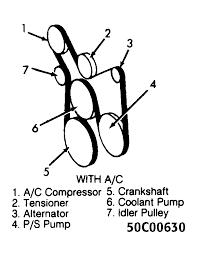 1994 chevrolet s10 blazer serpentine belt routing and timing belt