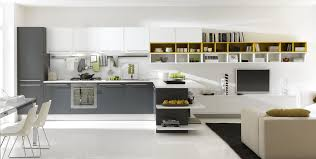 decorations all white kitchen cabinets in single line with white