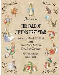 rabbit invitation rabbit beatrix potter baby shower or birthday party