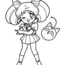 sailor mars coloring pages hellokids