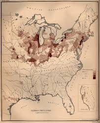 German States Map Map Of The German Population In The United States 1872 Full Size